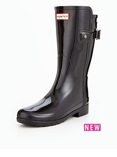 hunter-refined-back-strap-short-gloss-welly