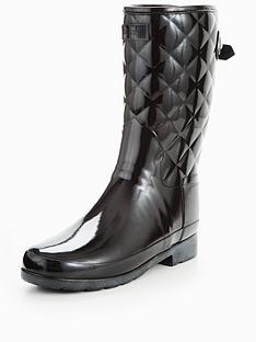 hunter-refined-gloss-quilt-short-welly