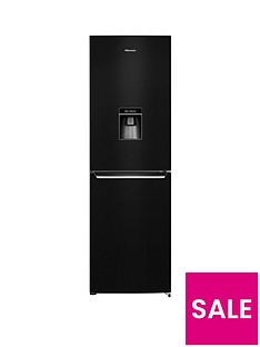 Hisense RB381N4WB1 60cm Wide Frost-Free Fridge Freezer with Water Dispenser - Black