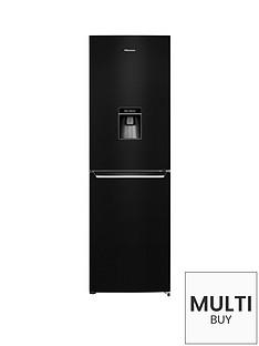 hisense-rb381n4wb1-60cm-wide-frost-free-fridge-freezer-with-water-dispenser-black