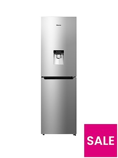 hisense-rb335n4wg1-55cm-wide-frost-free-fridge-freezer-silver--nbspnext-day-delivery