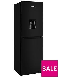 Hisense RB335N4WB1 55cm Wide Frost-Free Fridge Freezer - Black
