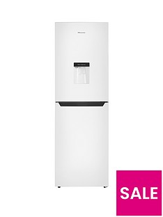 Hisense RB320D4WW1 55cm Wide Fridge Freezer - Next Day Delivery - White