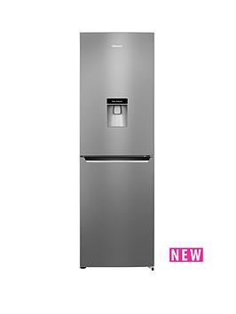 hisense-rb381n4wc1-60cm-wide-fridge-freezer-with-water-dispenser-stainless-steel-look