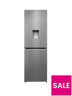 Hisense RB381N4WC1 60cm Wide Frost-Free Fridge Freezer with Water Dispenser - Stainless Steel Look