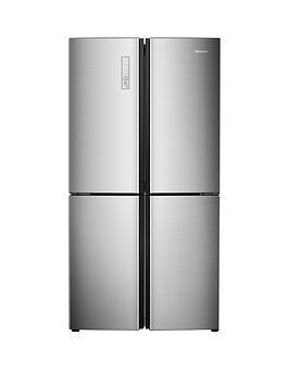 Hisense Rq689N4Ac1 91Cm Wide Total Non Frost American Style Multi-Door Fridge Freezer - Stainless Steel Look Best Price, Cheapest Prices