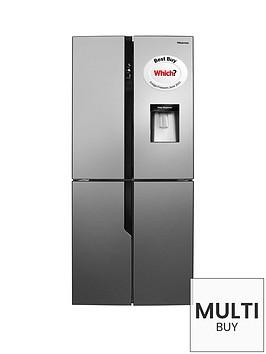 hisense-rq560n4wc1-79cm-wide-frost-free-american-style-multinbspdoor-fridge-freezer-with-water-dispenser-stainless-steel-look