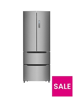 Hisense RF528N4AC1 70cm WideTotal Non Frost French Door Style Fridge Freezer - Stainless Steel Look