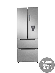 Hisense RF528N4WC1 70cm Wide Total Non Frost French Door Style Fridge Freezer with Water Dispenser - Stainless Steel Look Best Price, Cheapest Prices