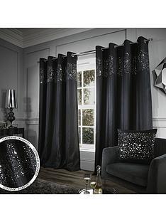Black   Embellished   Curtains   Curtains & blinds   Home ...