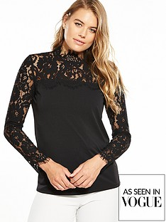 v-by-very-lace-yoke-long-sleeve-top-black