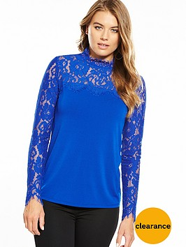v-by-very-lace-yoke-long-sleeve-top-electric-blue
