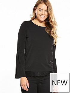 v-by-very-jersey-gathered-lace-hem-top