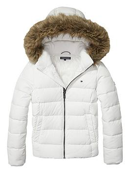 tommy-hilfiger-girls-faux-fur-trim-padded-coat