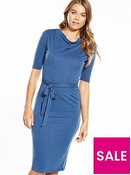 v-by-very-cowl-neck-cupro-midi-dress