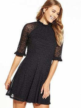 v-by-very-lace-embroidered-mesh-high-neck-skater-dress-black