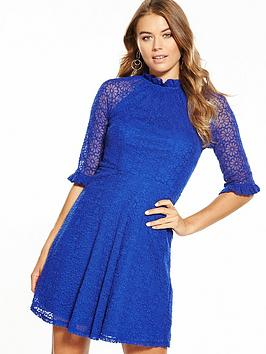 v-by-very-lace-embroidered-mesh-high-neck-skater-dress
