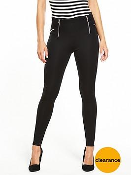 v-by-very-zip-detail-ponti-legging-black