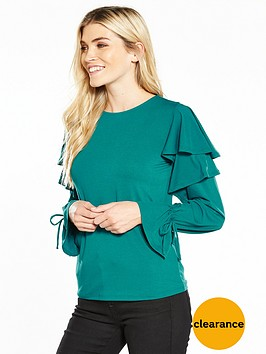 v-by-very-long-sleeve-frill-tie-cuff-top-teal