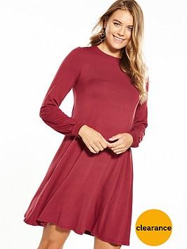 v-by-very-jersey-tie-back-ribbon-swing-dress-berry