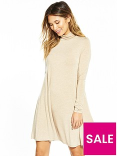 v-by-very-roll-neck-swing-dress
