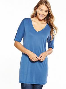 v-by-very-cupro-slouchy-tunic-slate-blue