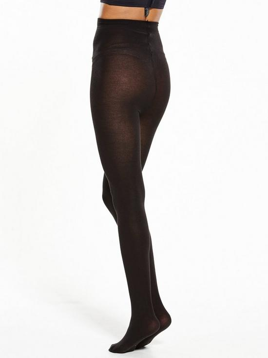 81b6a9aba8bb7 Pretty Polly 100 Denier Supersoft Opaque Tights - Black | very.co.uk