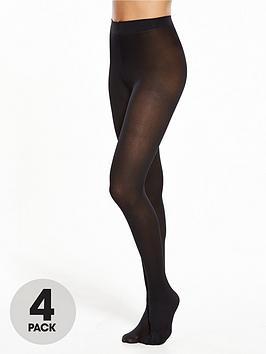 pretty-polly-4-pack-40-denier-opaque-tights-black