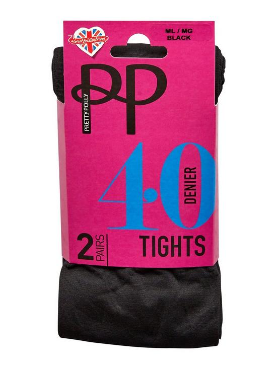 3e6bfaf7a5c9 Pretty Polly 4 Pack 40 Denier Opaque Tights - Black | very.co.uk