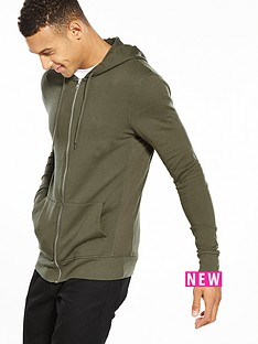 river-island-muscle-fit-zip-thru-hoody