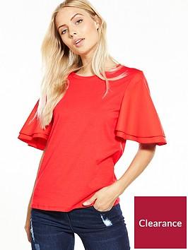 vero-moda-short-sleeve-flounce-top