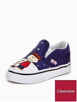 vans-vans-peanuts-charlie-xmas-td-classic-slip-on-infant-trainer
