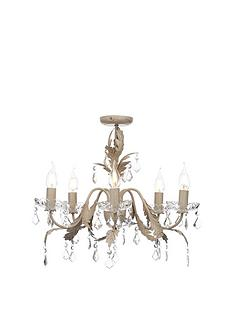 cream-finish-5-light-flush-chandalier