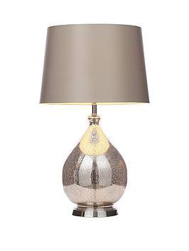 Mercury Effect Teardrop Table Lamp
