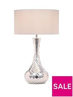swirl-effect-silver-table-lamp