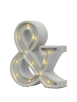 concrete-effect-ampersand-novelty-light