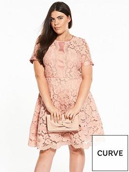 v-by-very-curve-lace-panel-short-sleeve-shift-dress