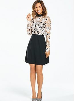 Myleene Klass Lace Top Skater Dress