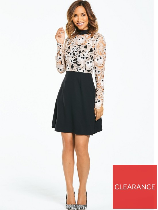 18fec09e660 Myleene Klass Lace Top Skater Dress