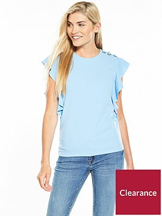 v-by-very-eyelet-lace-up-frill-crepe-top-baby-blue