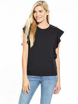 v-by-very-eyelet-lace-up-frill-crepe-top-black