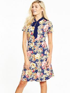 v-by-very-jersey-bow-tie-printed-dress