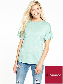 v-by-very-frill-sleeve-slub-t-shirt