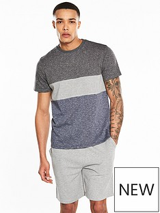 v-by-very-ss-colour-block-short-grindle-loungewear-set