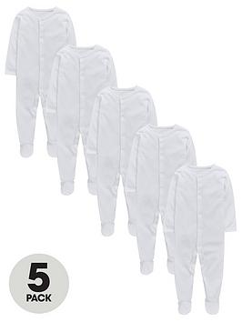 mini-v-by-very-baby-unisex-5-pack-popper-front-sleepsuits