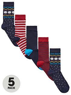 v-by-very-5-pk-christmas-pattern-socks-multi