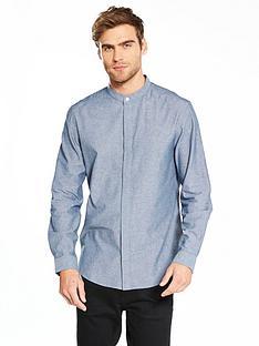 v-by-very-long-sleeve-textured-chambray-grandad-shirt
