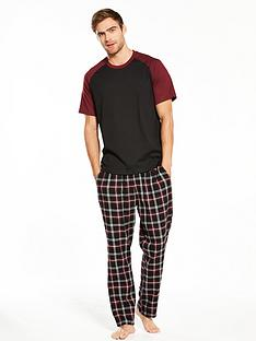 v-by-very-contrast-sleeve-t-shirt-amp-woven-check-trousers
