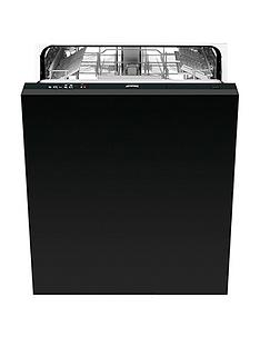 Smeg DISD13 60cm Fully Integrated 13-Place Dishwasher - Black Best Price, Cheapest Prices