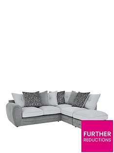 mosaic-fabric-right-hand-single-arm-chaise-sofa-with-matching-footstool